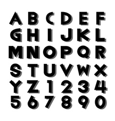 Alphabet fonts and numbers vector