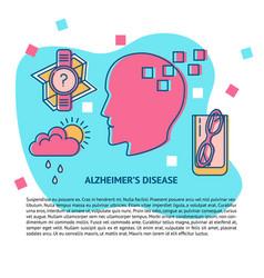 alzheimer s disease concept banner template in vector image