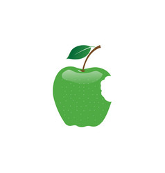 apple fruit logo design template vector image