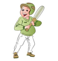Baseball batsman vector
