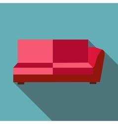 Big sofa icon flat style vector image