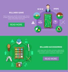 billiards horizontal banners vector image