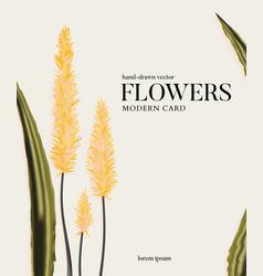 Botanical yellow aloe vera succlent flowers vector