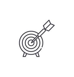 business goals line icon concept business goals vector image
