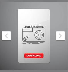 camera photography capture photo aperture line vector image
