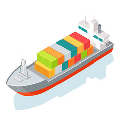 Cargo ship or container isolated on white vector