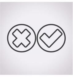 check mark icon wrong and right vector image