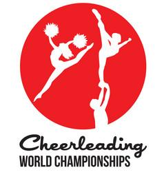 Cheerleading logo for championship vector