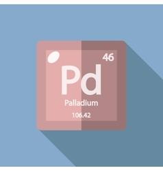 Chemical element Palladium Flat vector