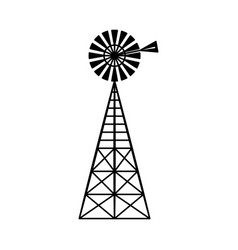 classic vintage windmill turbine technology vector image