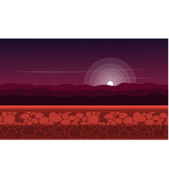 Collection at night scenery game background vector