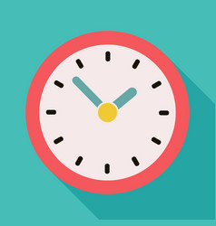Color clock icon flat vector
