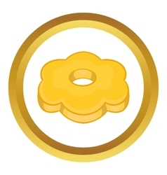 Cookie flower shaped icon vector