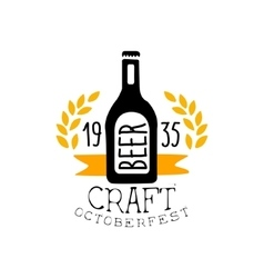 Craft Beer Oktoberfest Logo Design Template vector image