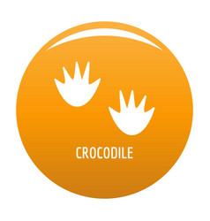 crocodile step icon orange vector image