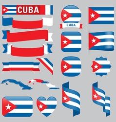 Cuba flags vector