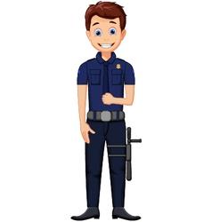 cute police cartoon posing vector image