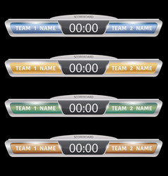 digital black scoreboards set vector image