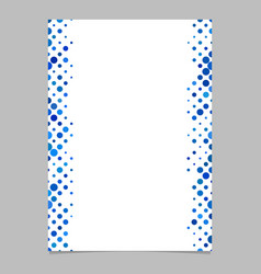 Dot pattern page template - design vector