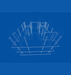 drawing a house under construction vector image