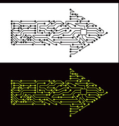 Electric scheme of arrow symbol vector