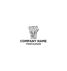 Elephant cute logo design vector