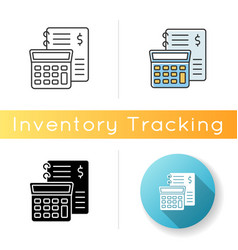 Financial accounting icon inventory management vector