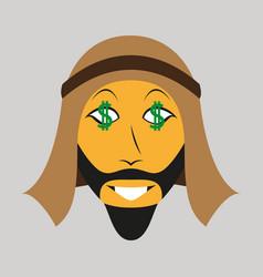 Flat icon on theme arabic business businessman vector