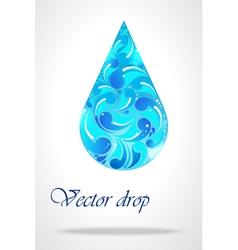 Floral drop of water vector image