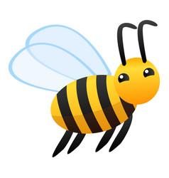 flying bee icon cartoon style vector image