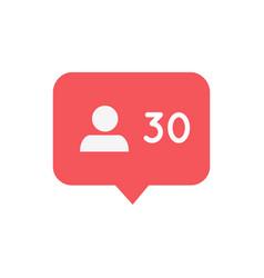Follower notification icon social media symbol vector