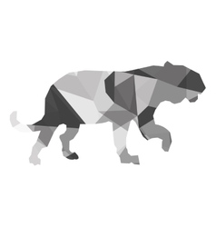 Geometric texture big wild feline silhouette icon vector