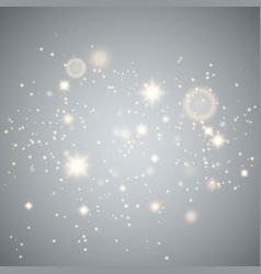 glow light effect gold sparkle dust vector image