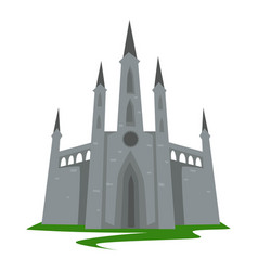 gothic style castle ancient architecture building vector image