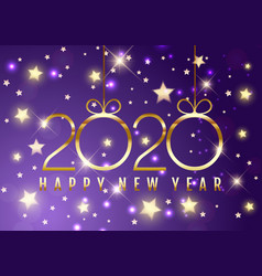 Happy new year background with decorative gold vector