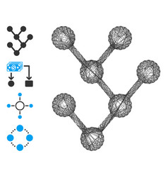 Hatched binary tree mesh vector