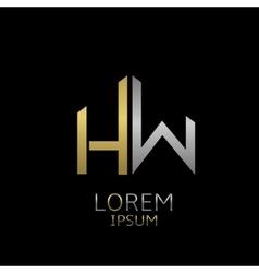 HW letters logo vector image