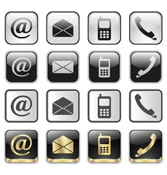 icon app set vector image