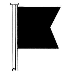 International code flag for the letter b or bravo vector