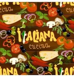 Italian Food Seamless Background vector image