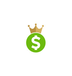 king money logo icon design vector image