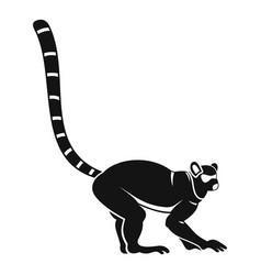 Lemur monkey icon simple style vector