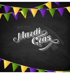 Mardi Gras on the blackboard texture vector image