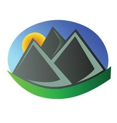 Mountain logo 4 vector image