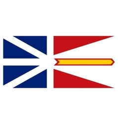 Newfoundland and Labrador flag correct proportions vector image
