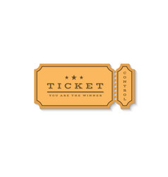 Paper ticket mockup logo cardboard coupon for the vector