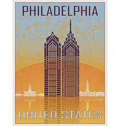 Philadelphia Vintage Poster vector