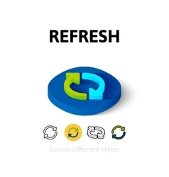 Refresh icon in different style vector