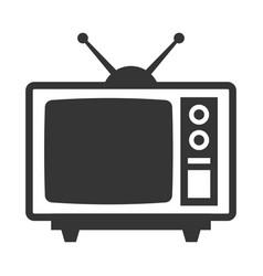 Retro television with antenna vector