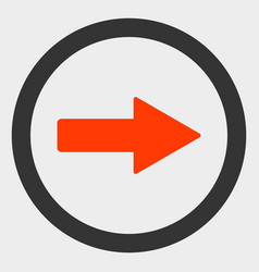 Rounded right arrow icon vector